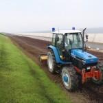改良材・肥料攪拌状況
